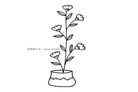 9张简单的盆栽简笔画图片