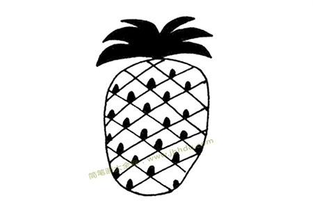 菠萝简笔画图片