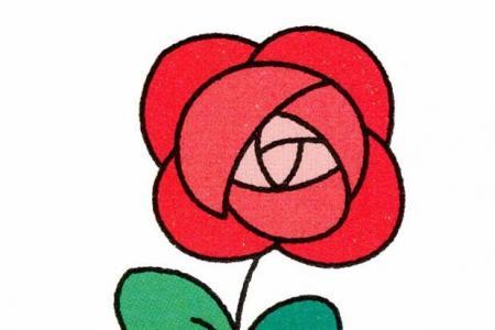 玫瑰花的画法