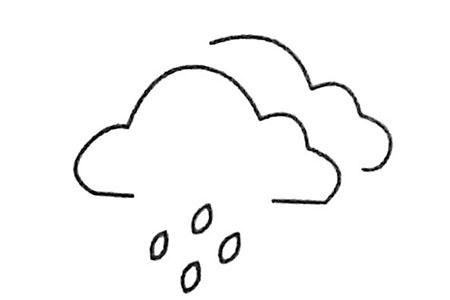 雨滴简笔画大全及画法步骤