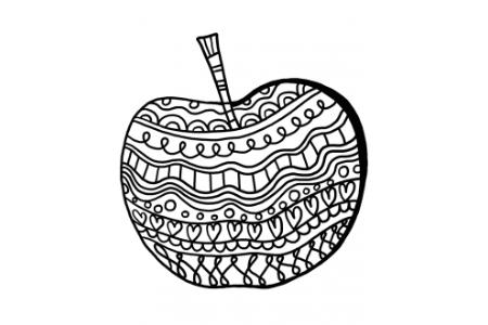创意苹果简笔画图片