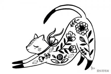 创意小花猫简笔画