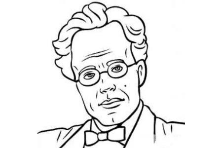 历史人物图片 古斯塔夫马勒简笔画画像