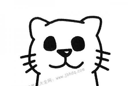 坐着的小猫简笔画图片