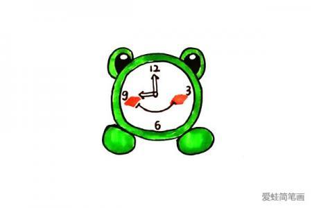 青蛙闹钟怎么画