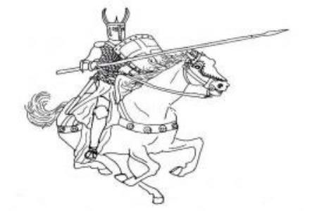 西方骑士简笔画图片