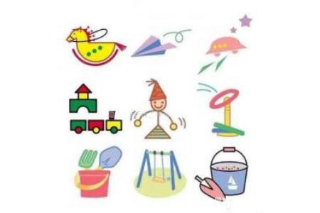 幼儿园彩色玩具简笔画图片