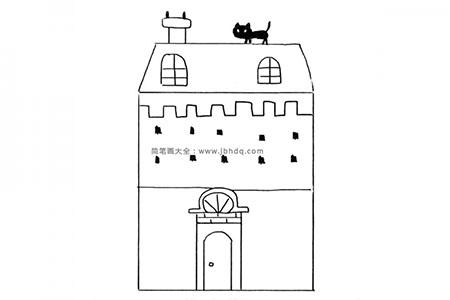 几何形构成的建议房子