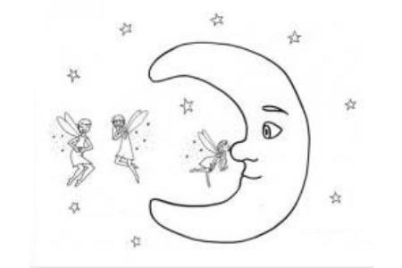 漂亮的月亮简笔画大全