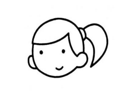小女孩头像简笔画图片