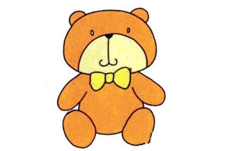 Q版小熊简笔画画法