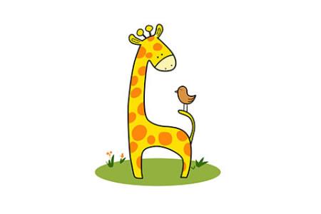 长颈鹿的画法及步骤图