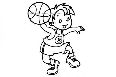 小男孩打篮球