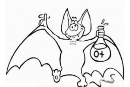 可爱的卡通小蝙蝠简笔画图片