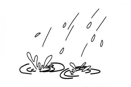 雨滴落到地上