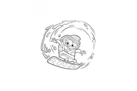 一组海绵宝宝的简笔画图片