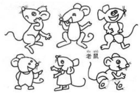 老鼠简笔画图片