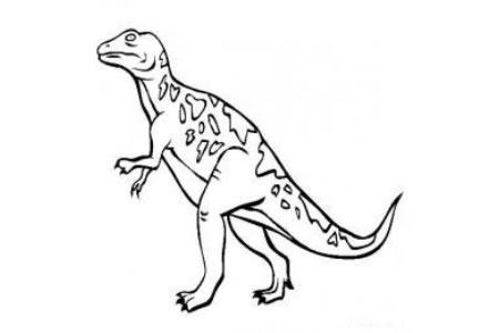 恐龙图片大全  斑龙简笔画图片