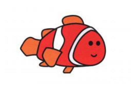 小丑鱼简笔画画法