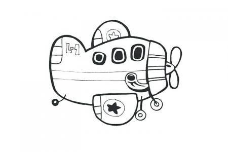 卡通小飞机简笔画图片