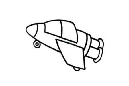 宇宙飞船简笔画画法