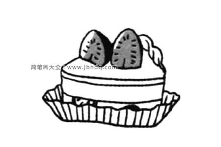 可爱的甜点 草莓蛋糕