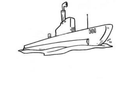 潜水艇简笔画
