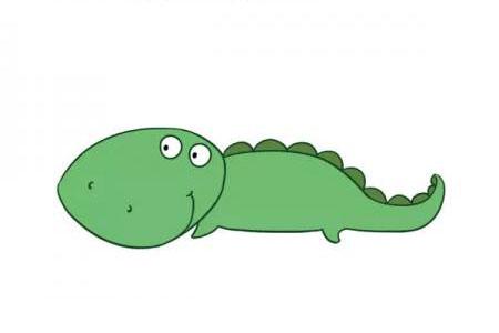 可爱的卡通鳄鱼