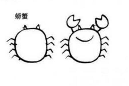 两步画螃蟹