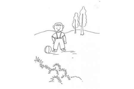 小男孩简笔画方法介绍