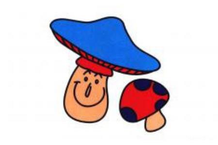 卡通蘑菇简笔画图片