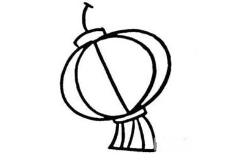 传统灯笼的儿童简笔画画法