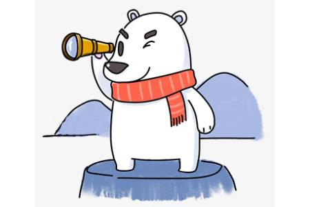 卡通北极熊的画法步骤