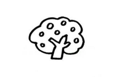 幼儿大树简笔画 果树