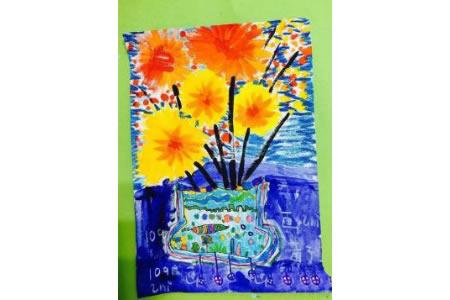花瓶里的菊花美丽的秋天图画分享