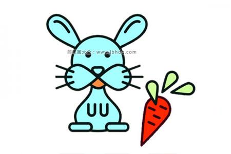 简单的卡通兔子简笔画