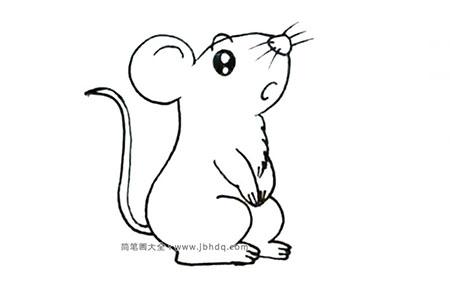 超萌的小老鼠简笔画