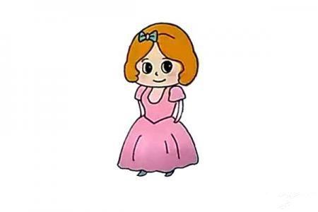 小公主怎么画