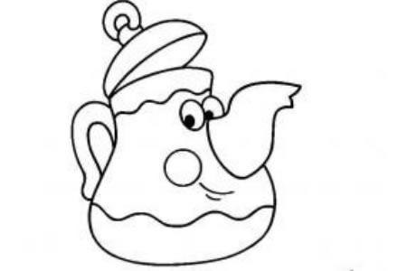 卡通形象调皮的茶壶