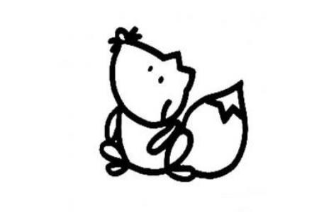 松鼠的简单画法