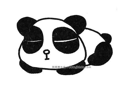 简单易学的大熊猫简笔画