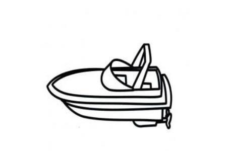 玩具船简笔画画法