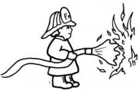 消防员在灭火