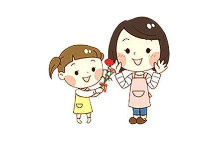 母亲节素材 给妈妈送花