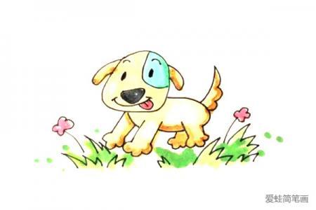 草坪上的小狗