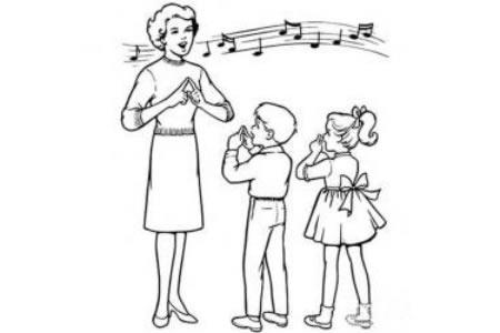 音乐老师简笔画图片
