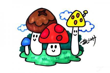 蘑菇,森林里的小萌物