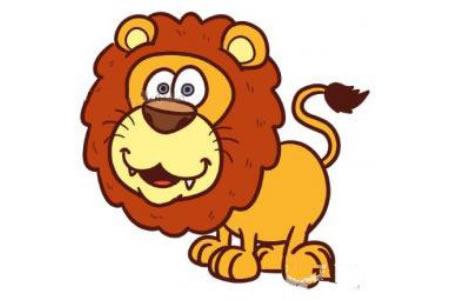 卡通狮子简笔画教程
