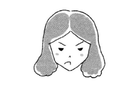 生气的表情简笔画教程