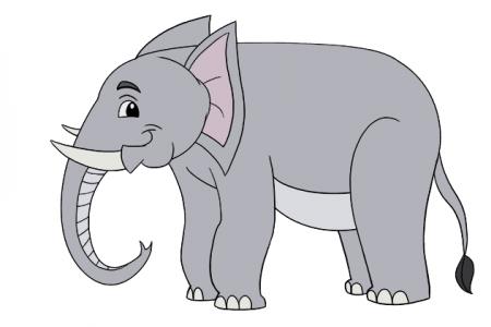 可爱的卡通大象简笔画图片